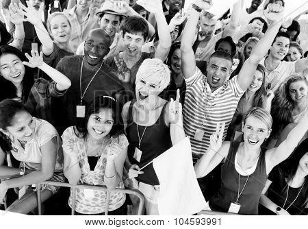 Group Celebration Cheerful Community Youth Joy Concept