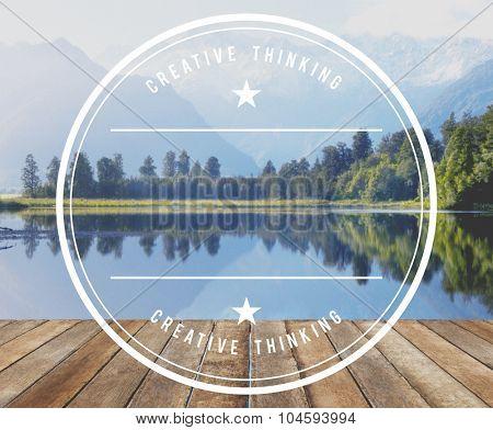 Deck Hardwood Mountain Pier Wooden Lake Water Concept