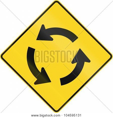 Traffic Circle Ahead In Canada