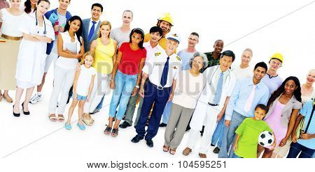 Large Group of People Community Communication Concept