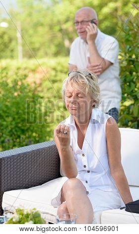 woman jealous of her husband,
