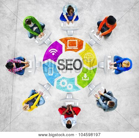 People Social Networking and SEO Concepts