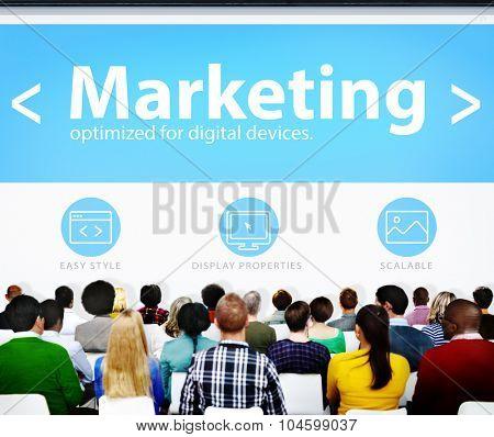 Marketing Web Page Seminar Presentation Concept