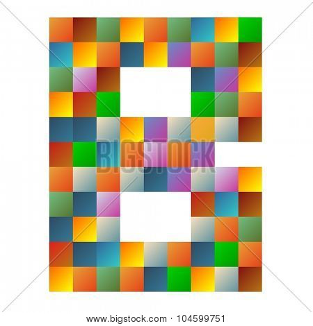 Bravo letter rainbow colorful sparkling vector illustration