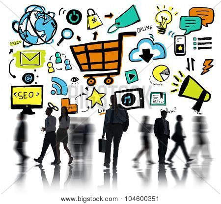 Business People Online Marketing Professional Occupation Concept
