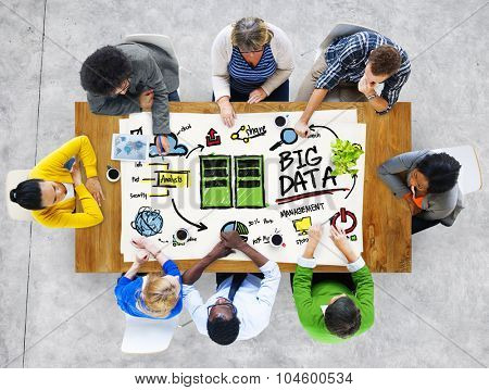 Diversity People Big Data Working Teamwork Discussion Concept