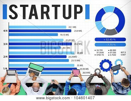 Startup New Business Growth Sucess Development Concept