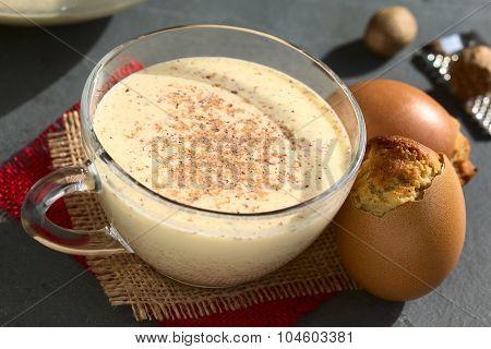 Eggnog Drink and Eggnog Cupcake
