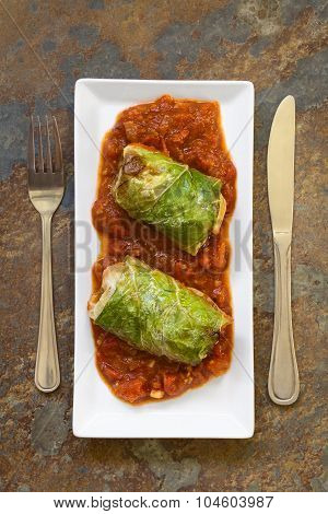 Baked Stuffed Savoy Cabbage