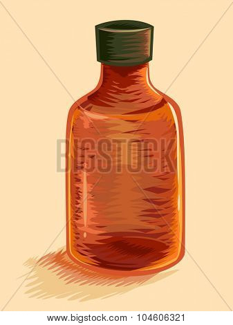 Illustration of a Medicine Bottle That Has Ran Out of Tablets