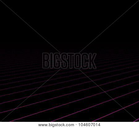 Lines perspective dark background. Vector illustration.