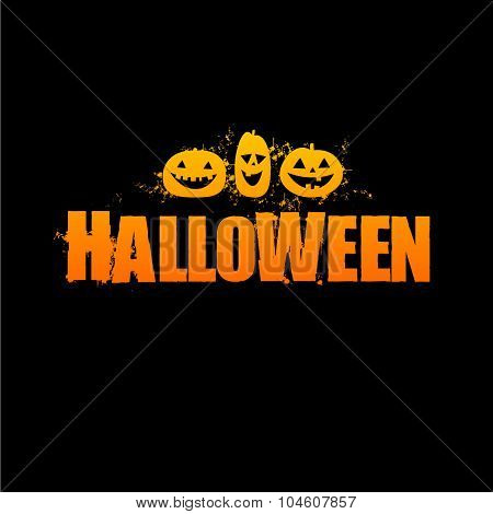 Halloween logo - vector design template.