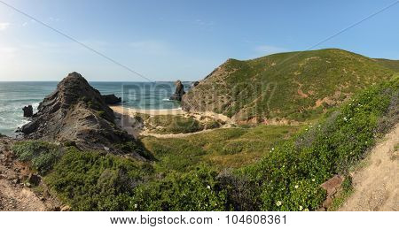 Beach in South-West Alentejo and Costa Vicentina Natural Park, Portugal