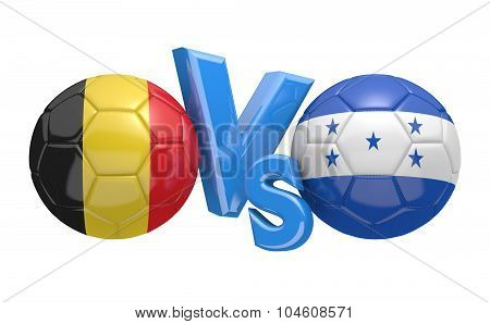 Soccer versus match between national teams Belgium and Honduras