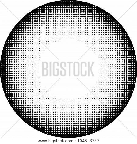 Circle Icon In Graphical Black And White Diamond Gradient