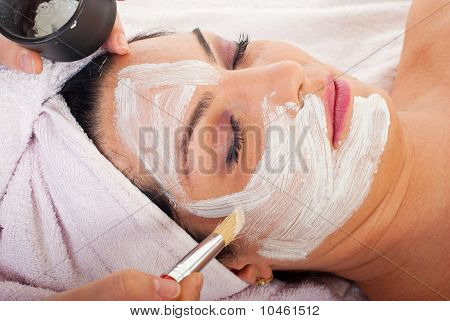 Detalle de la aplicación de Máscara Facial