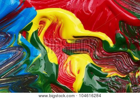 Abstract painted background, close up