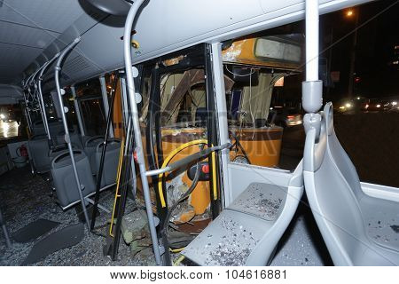 Trolley Bus Crash
