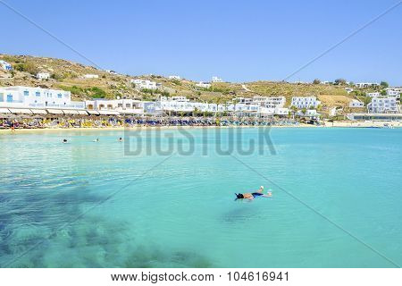 Platis Gialos Beach, Mykonos, Greece