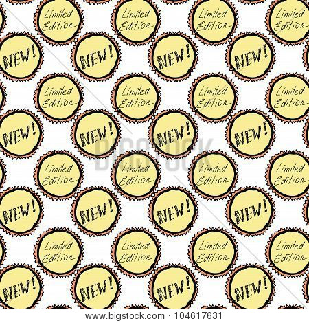 Seamless Pattern  New And Labels