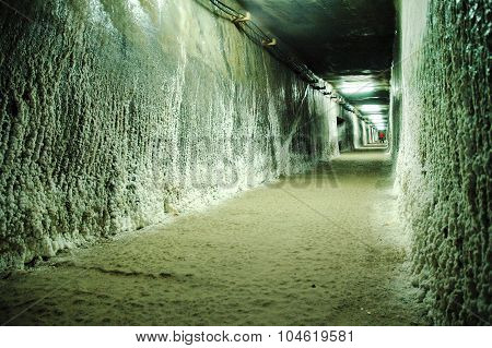 Underground Gallery In A Salt Mine