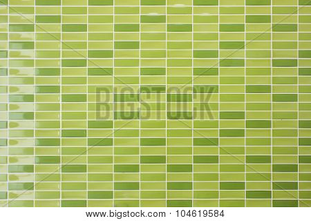 Green Tile Wall High Resolution Real Photo