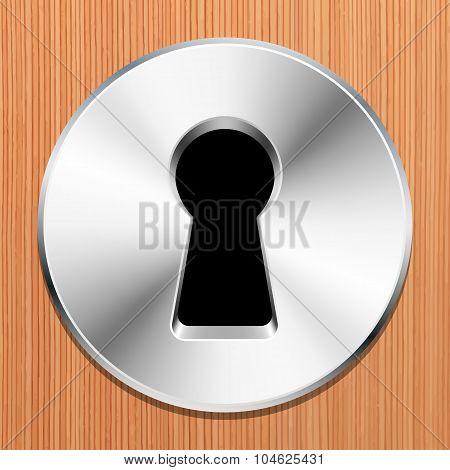 Keyhole In A Wooden Door
