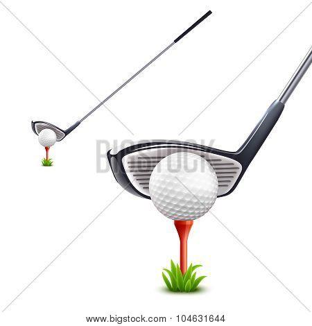Golf Realistic Set