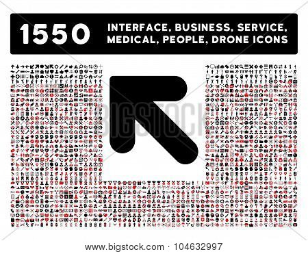 Arrow Up Left Icon and More Interface, Business, Tools, People, Medical, Awards Flat Vector Icons