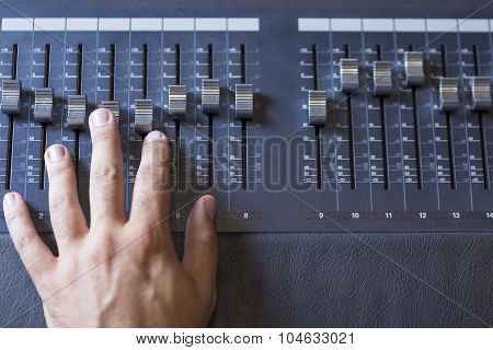 Hand And Sound Mixing Desk