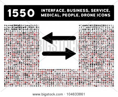 Arrows Exchange Horizontal Icon and More Interface, Business, Tools, People, Medical, Awards Flat Ve