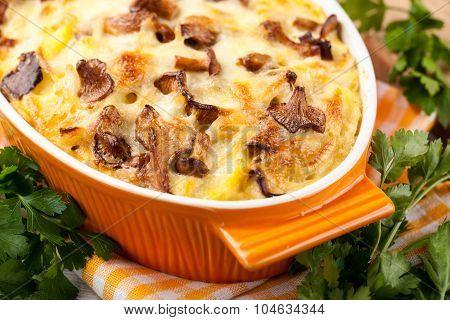 Potato Gratin With Mushrooms