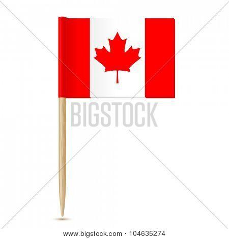 Canada flag. Flag toothpick 10eps