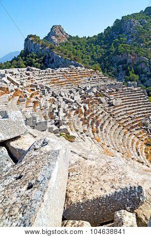 The Old   Theatre In  Antalya Turkey Ruins