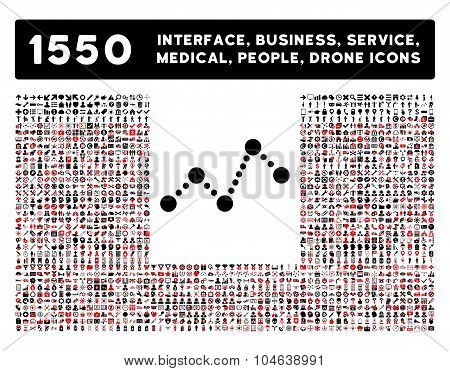 Chart Icon and More Interface, Business, Tools, People, Medical, Awards Flat Vector Icons