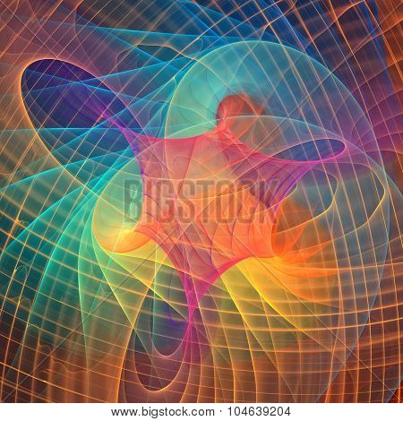 Fractal rainbow background