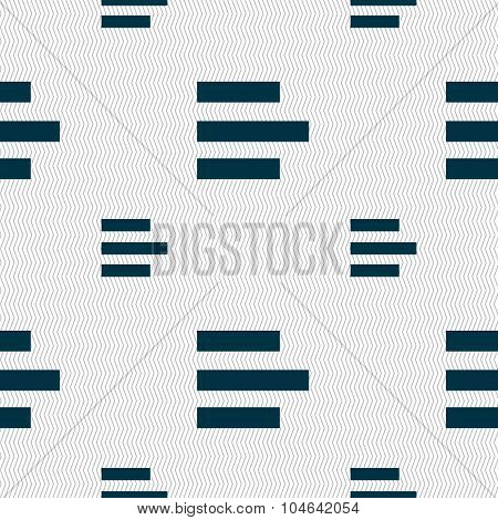 Left-aligned Icon Sign. Seamless Pattern With Geometric Texture. Vector