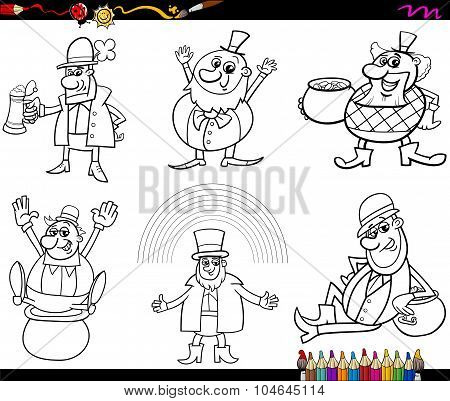 Saint Patrick Set Coloring Page