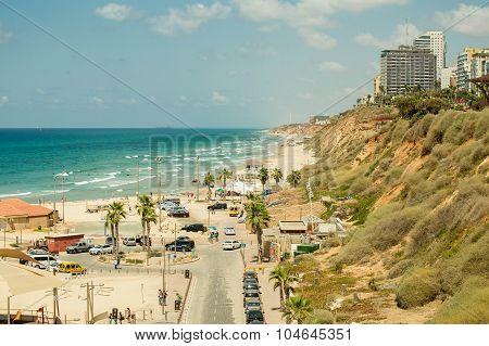 Sea coast of Israel