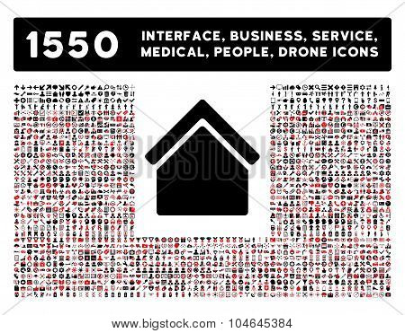 Home Icon and More Interface, Business, Tools, People, Medical, Awards Flat Vector Icons