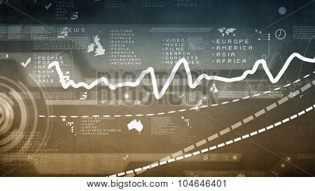 Background digital image with virtual technology concept