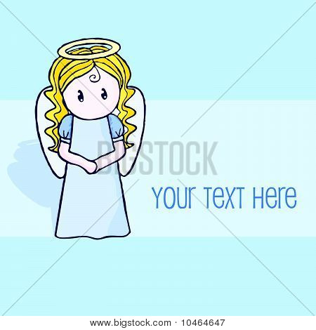 Vector greeting card with angel