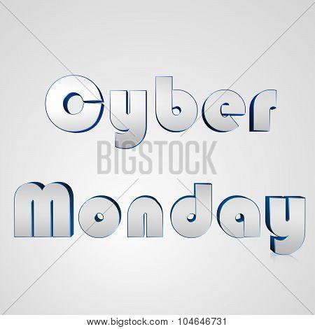 3D Text Cyber Monday