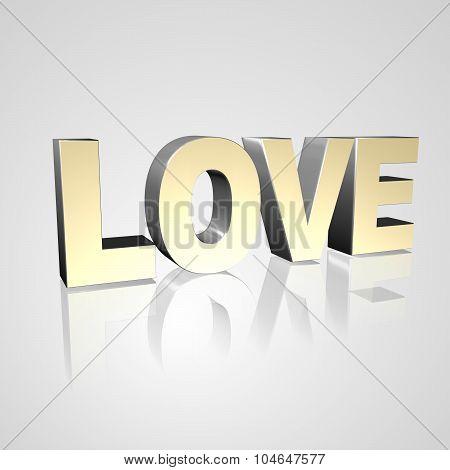 3D Text Love