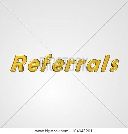 3D Text Referrals