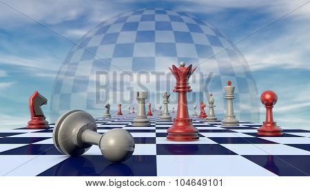 Political mistake (chess metaphor)
