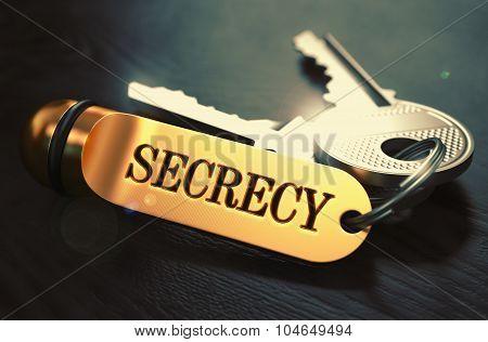 Secrecy written on Golden Keyring.
