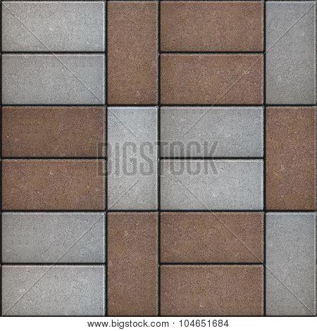 Two-tone Rectangular Pavement. Seamless Texture.
