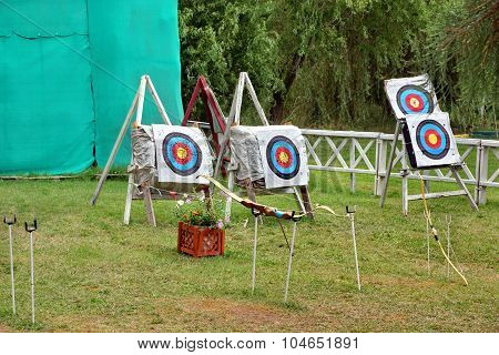 Archery Targets On The Shooting Range