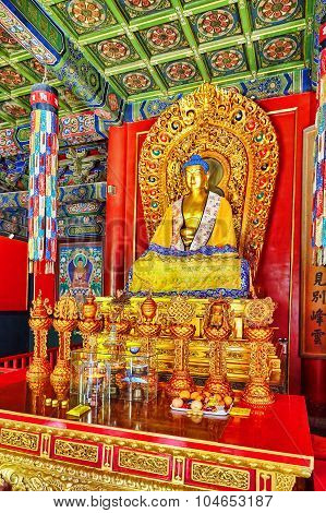 Interior View Of Yonghegong Lama Temple. Beijing.